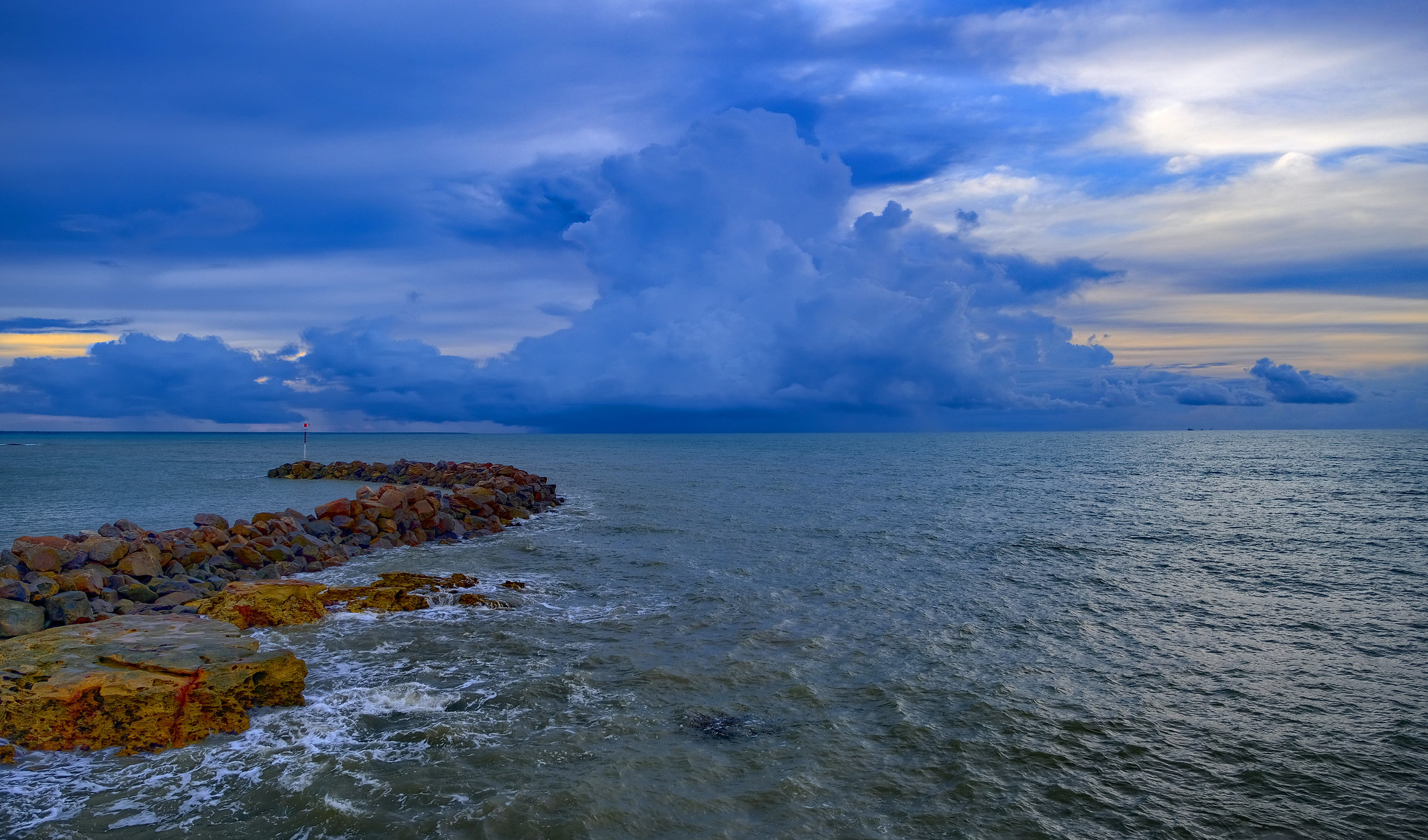 A monsoon off the coast of Darwin Harbour