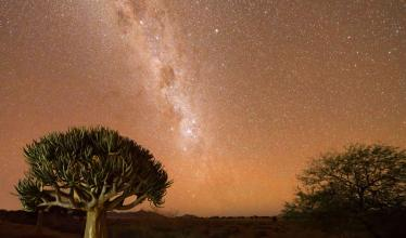 The Milky Way viewed from the Namib desert.