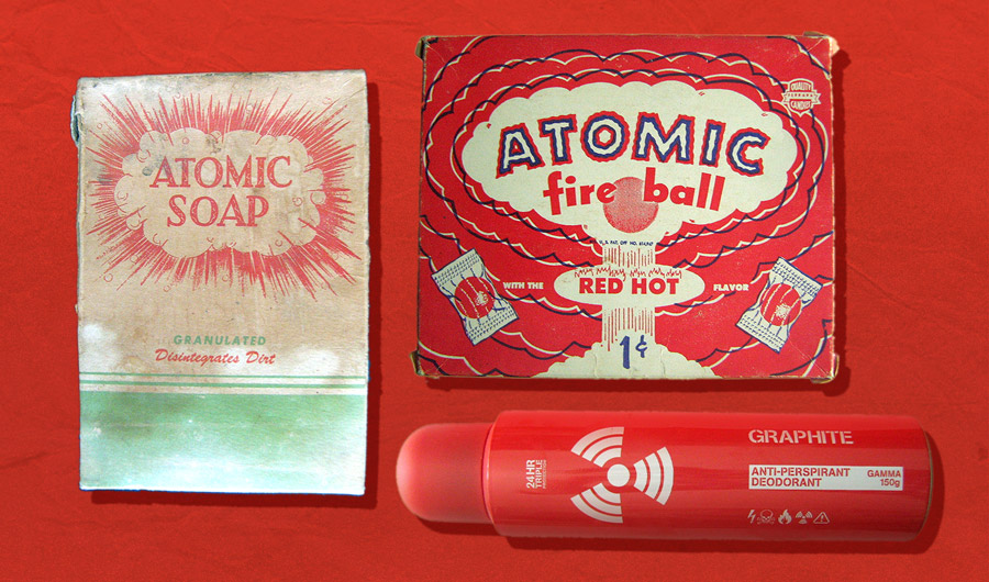 Atomic-themed products