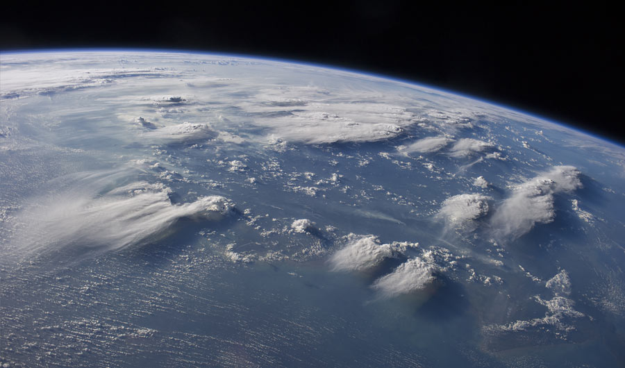 Thuderstrom image from space