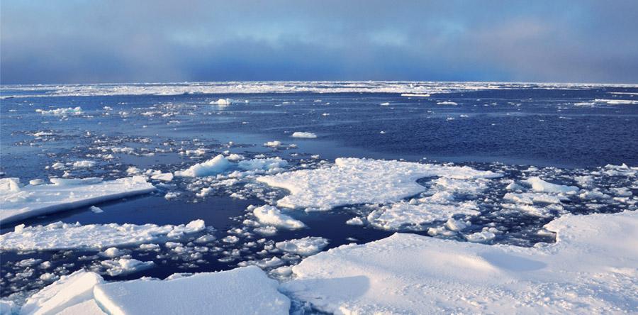 Arctic ice, public domain image by Patrick Kelley, U.S. Coast Guard