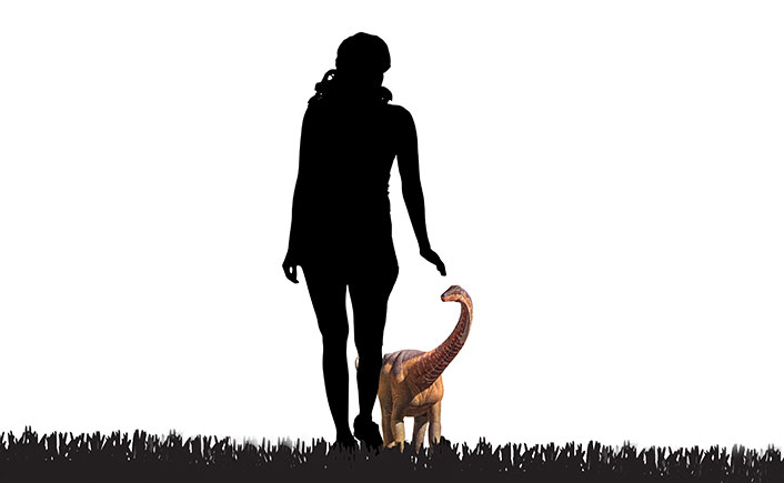 Baby Rapetosaurus were only dog-sized a few weeks after hatching. As adults, they outweighed elephants.
