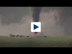 Rare Clockwise Tornado
