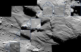 Philae's bouncing path