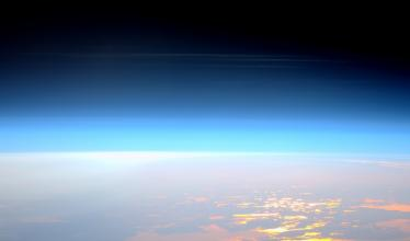 An image of the upper layers of the Earth's atmosphere from space