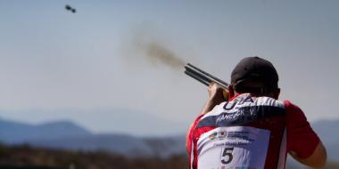 Gold medalist Vincent Hancock of the United States of America in the Skeet Men Finals during Day 7 of the ISSF World Cup Shotgun on March 23, 2013 in Acapulco, Mexico.